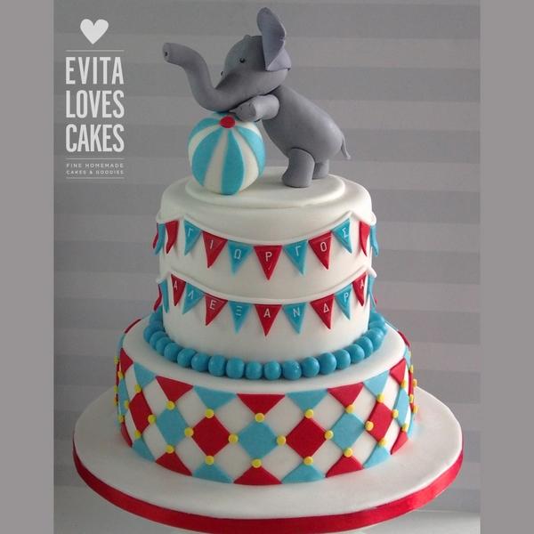 Elephant_Circus_Birthday_Cake_EvitaLovesCakes