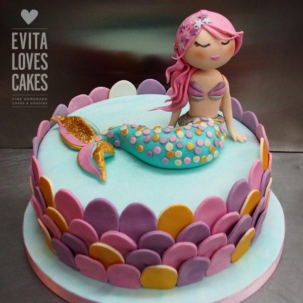 Mermaid_Birthday_Cake_EvitaLovesCakes